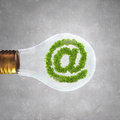 Green email symbol Royalty Free Stock Photo