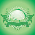 Green emblem, design element Royalty Free Stock Photo
