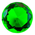 Green emerald gemstone Royalty Free Stock Image