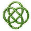 Green endless celtic knot