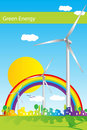 Green Energy - Brochure cover - Business card Royalty Free Stock Photos