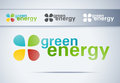Green energy button. Royalty Free Stock Photos
