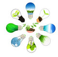 Green energy concept - save green planet Royalty Free Stock Images