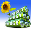 Green energy d concept for Royalty Free Stock Images