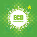 Green energy eco banner of alternative sources Stock Photography