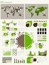 Green energy and ecology Infographic Stock Photos