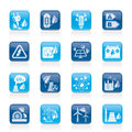 Green energy and environment icons Stock Photography