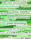 Green energy headlines Royalty Free Stock Images