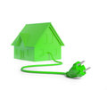 Green energy housing  concept Royalty Free Stock Photo