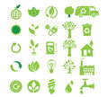 Green energy, icon set Royalty Free Stock Photo
