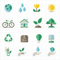 Green energy icons this image is a vector illustration Royalty Free Stock Photos
