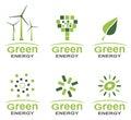 Green energy logo set
