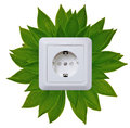 Green energy outlet Royalty Free Stock Photo