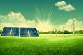 Green energy park Royalty Free Stock Photo
