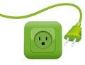 Green Energy Power Plug Socket Royalty Free Stock Photo