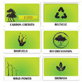 Green energy set of templates showing ideas of Stock Photography