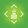 Green energy with wind turbines and solar panels Royalty Free Stock Photo