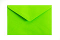 Green envelope close up of on white background Royalty Free Stock Image
