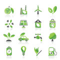 Green, Environment and ecology Icons Royalty Free Stock Photos