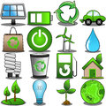 Green environment icon set illustration featuring isolated on white background eps file is available check my portfolio for other Royalty Free Stock Images