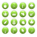 Green environment icons Royalty Free Stock Photo