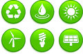 Green environmental buttons original vector illustration collection Stock Images