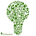 Green environmental light bulb Royalty Free Stock Photo