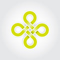 Green eternal knot concept Royalty Free Stock Images