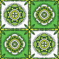 Green ethnic pattern seamless with ethnicity motif Stock Image