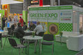 Green expo alternative energy trade show visitors visit greenexpo in kiev ukraine it is the key business event of renewable Stock Photo