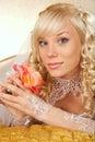 Green-eyed bride Royalty Free Stock Photo
