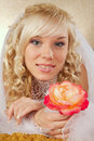 Green-eyed bride Royalty Free Stock Photo