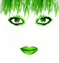 Green face Stock Photos