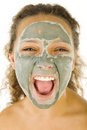 Green face mask Stock Photography