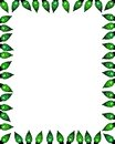Green facet light border frame Stock Images