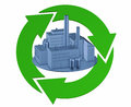 Green factory clean environment concept clipping paths Royalty Free Stock Photography