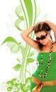Green fashion Stock Images