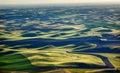 Green Fields Black Land Patterns Palouse Royalty Free Stock Photo