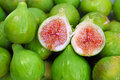 Green figs Royalty Free Stock Photo