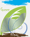 Green filter abstract ecological background vector illustration Stock Photos