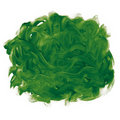 Green fingerpaint Royalty Free Stock Images