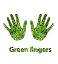 Green fingers Stock Image