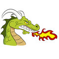 Green Fire Breathing Dragon Royalty Free Stock Photo