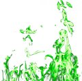 Green fire flames on a white background Royalty Free Stock Photo