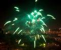 Green firework. Royalty Free Stock Photo