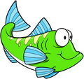 Green fish Vector Royalty Free Stock Image