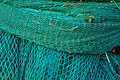 Green fishing netting in Howth, Ireland Royalty Free Stock Photo