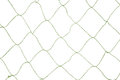 Green fishnet a large opening on a white background Royalty Free Stock Photo