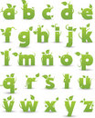 Green floral alphabet Royalty Free Stock Photo