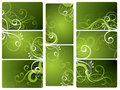 Green Floral Backgrounds Royalty Free Stock Photo
